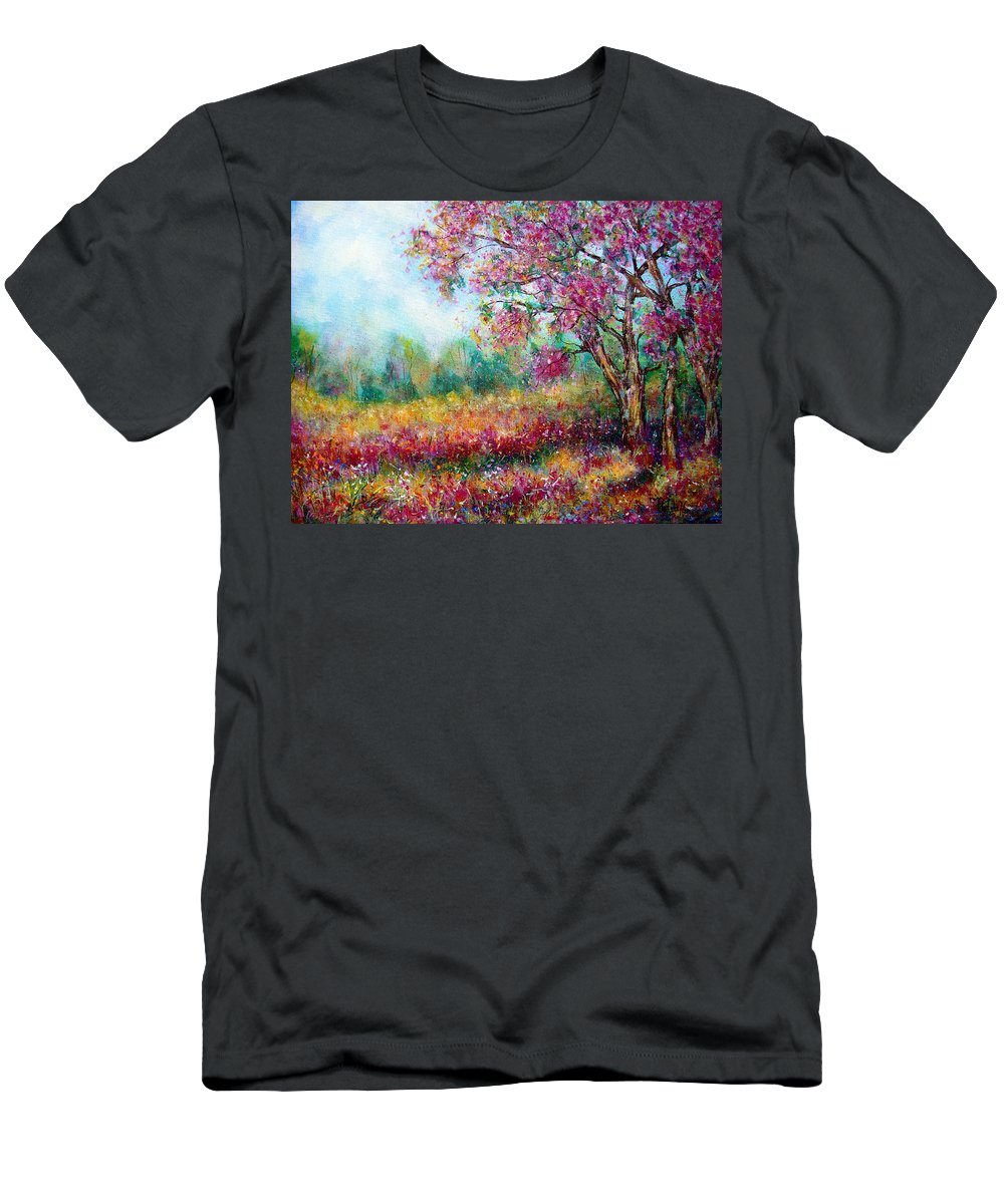 Landscape T-Shirt featuring the painting Spring by Natalie Holland