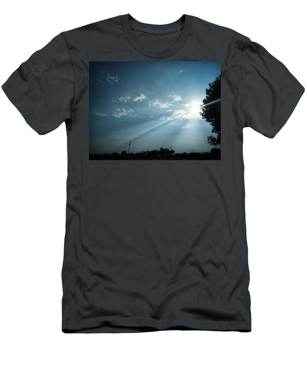 Sky T-Shirt featuring the photograph Striking rays by Yvonne's Ogolla