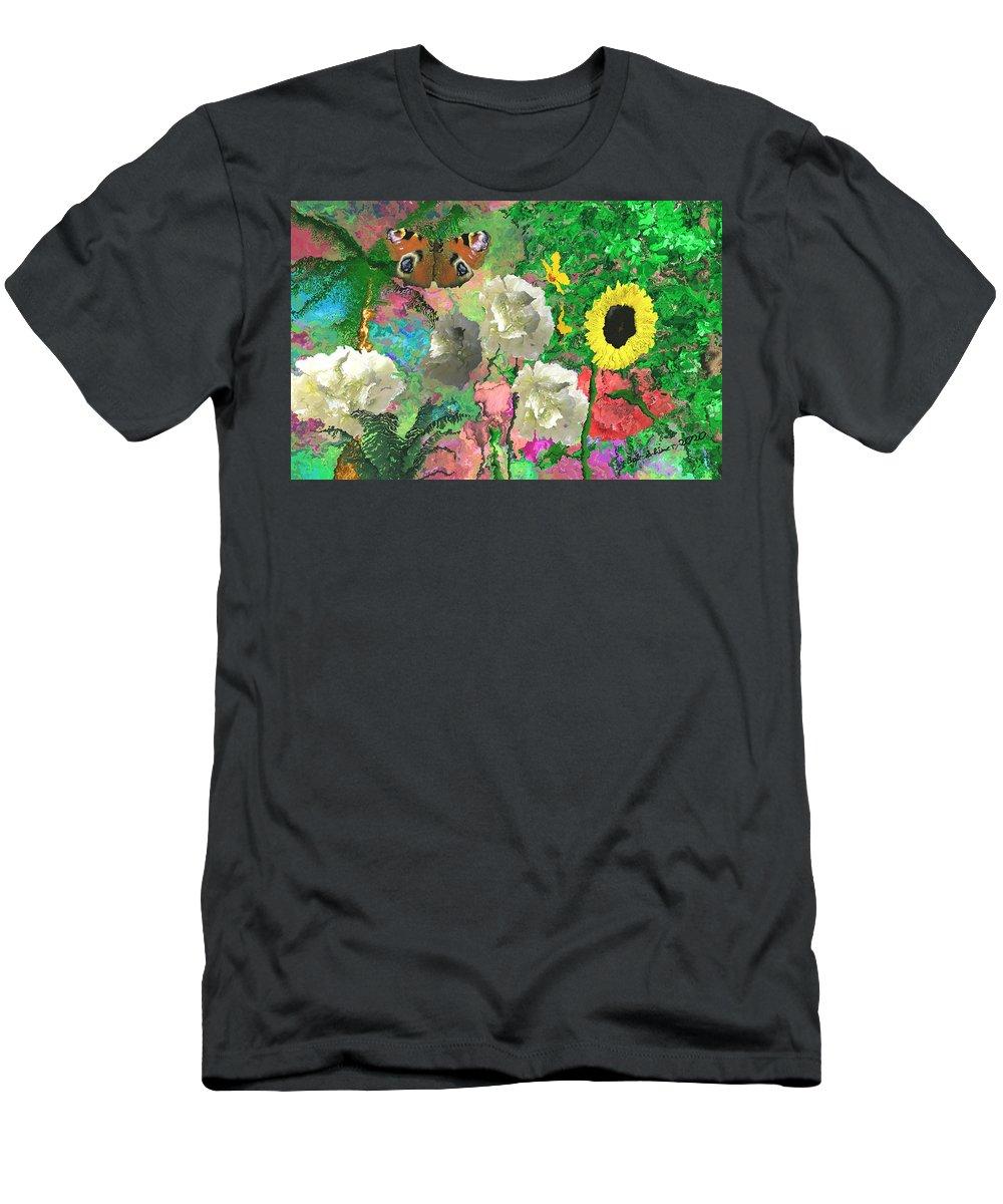 Digital Flowers Gardensummer T-Shirt featuring the digital art Summer Garden by Bob Shimer