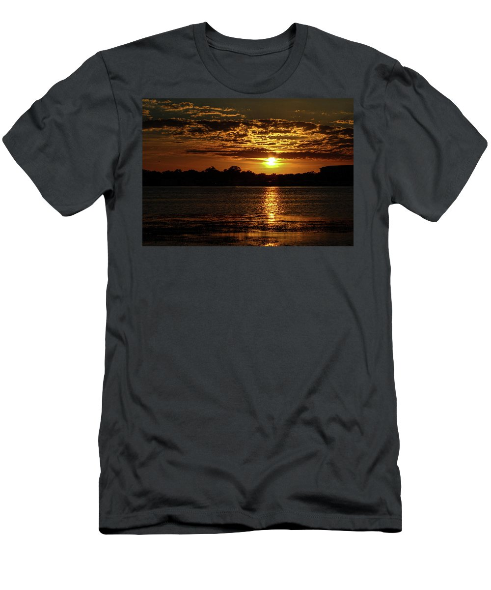 Sunset T-Shirt featuring the photograph The Sunset over the Lake by Daniel Cornell