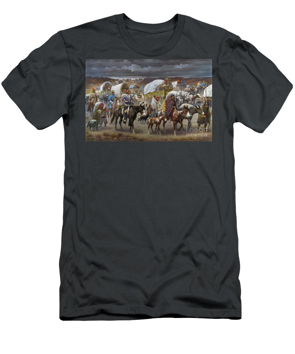 1838 T-Shirt featuring the painting The Trail Of Tears by Granger