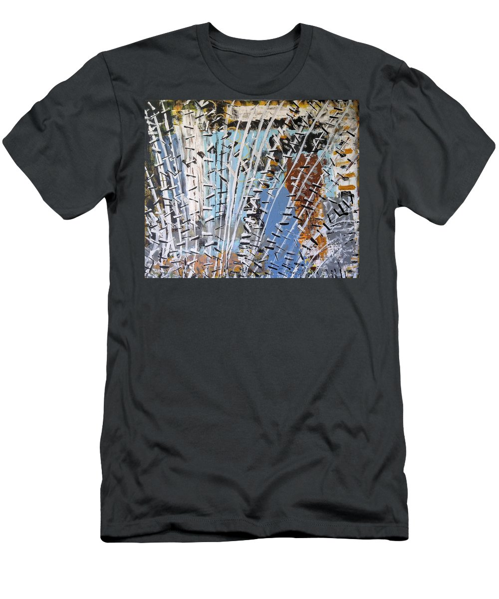 White T-Shirt featuring the painting Winter Forest by Pam Roth O'Mara