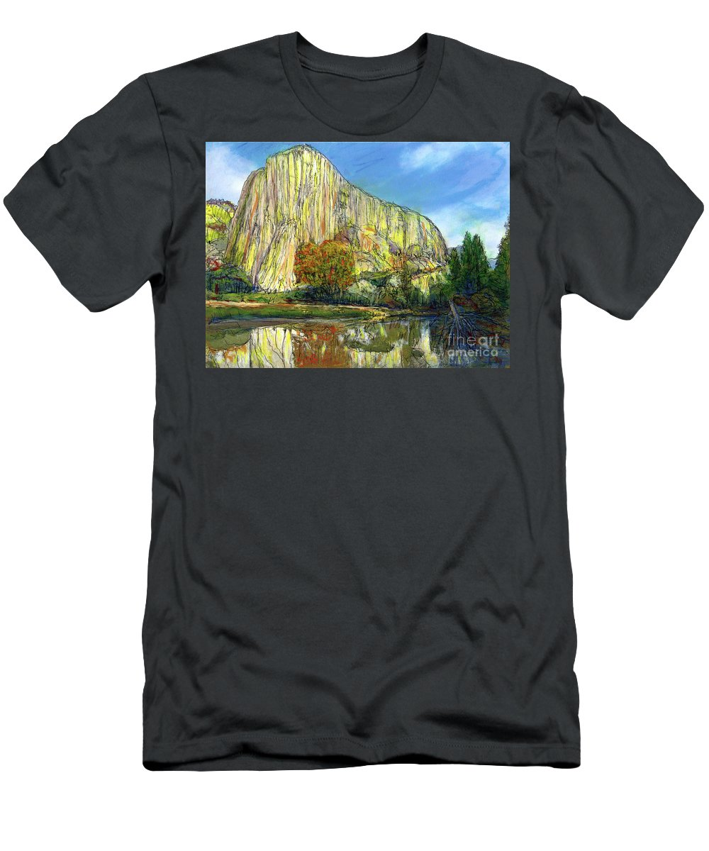 Yosemite National Park T-Shirt featuring the painting Yosemite National Park. by Randy Sprout
