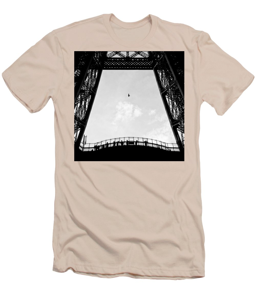 Eiffel Tower Men's T-Shirt (Athletic Fit) featuring the photograph Birds-eye View by Dave Bowman