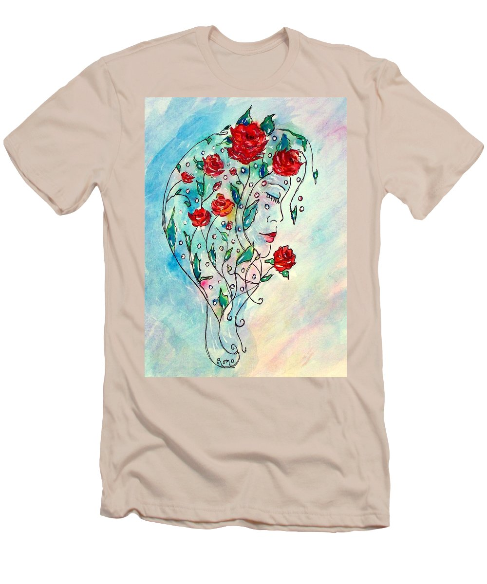 Bouquet Men's T-Shirt (Athletic Fit) featuring the painting Bouquet Of Love by Robin Monroe