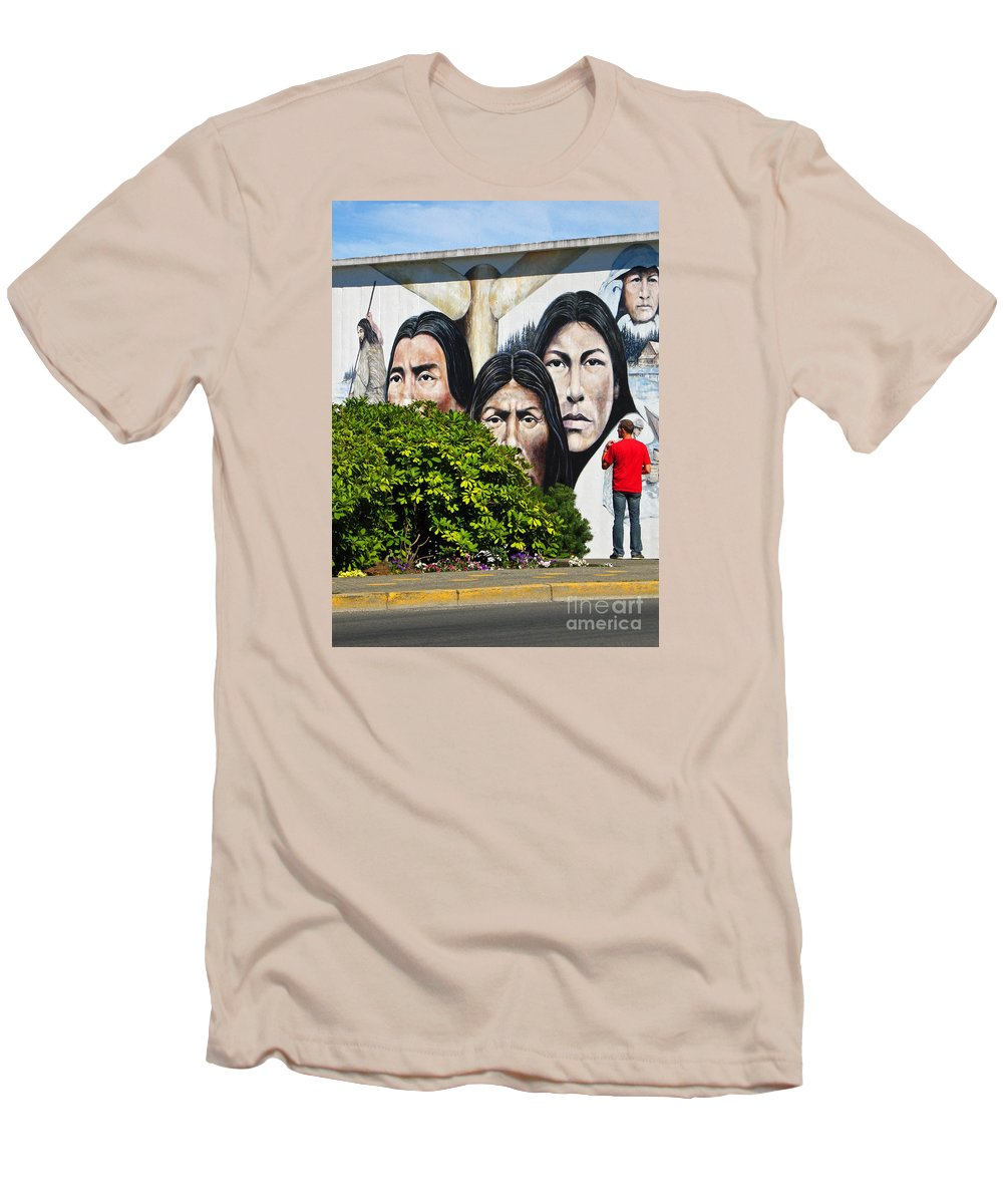 Canada Men's T-Shirt (Athletic Fit) featuring the photograph Canadian Retrospective by Ann Horn