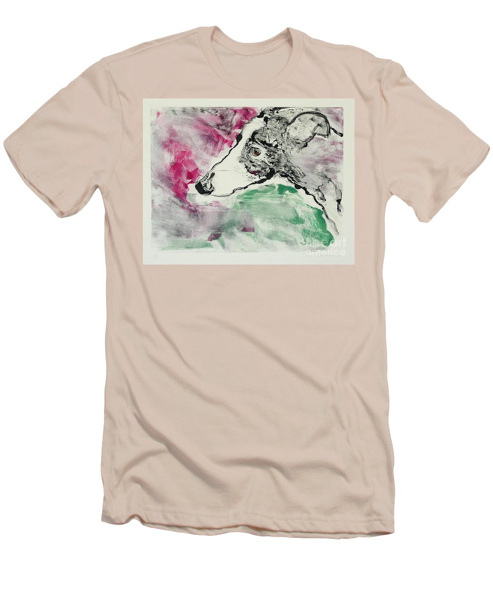 Greyhound Men's T-Shirt (Athletic Fit) featuring the painting Cyrus by Cori Solomon