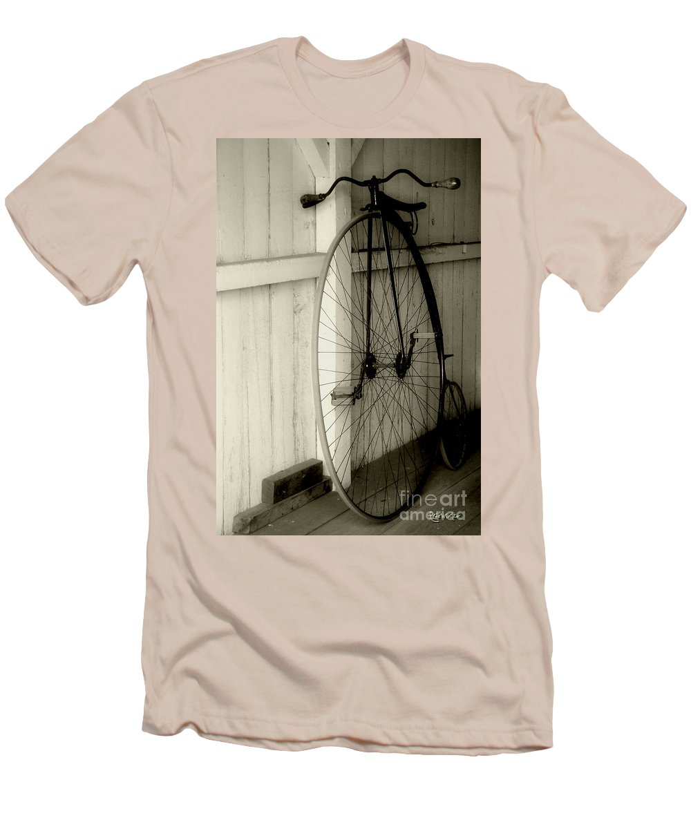 Velocipede Men's T-Shirt (Athletic Fit) featuring the photograph Firehouse Velocipede by RC deWinter