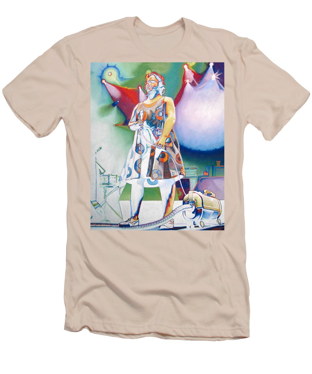 Phish Men's T-Shirt (Athletic Fit) featuring the drawing Fishman And Vaccum by Joshua Morton