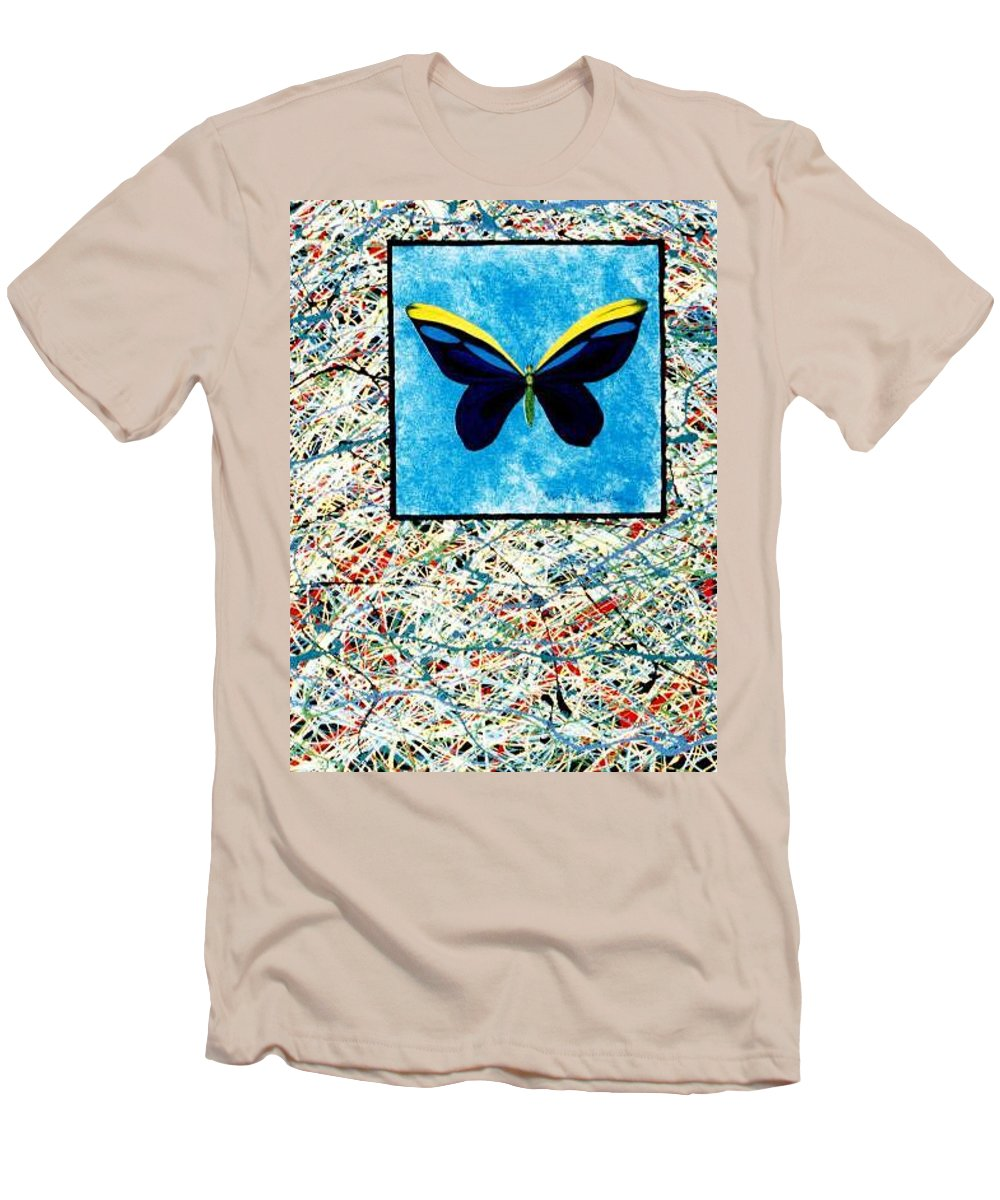 Abstract Men's T-Shirt (Athletic Fit) featuring the painting Imperfect II by Micah Guenther