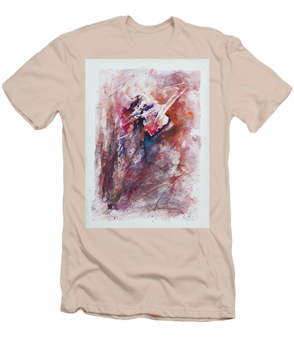 Abstract Men's T-Shirt (Athletic Fit) featuring the painting Inner Conflict by Rachel Christine Nowicki