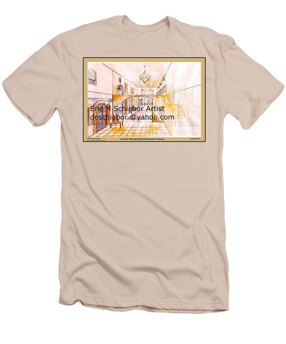 Interior Men's T-Shirt (Athletic Fit) featuring the painting Interior Perspective by Eric Schiabor