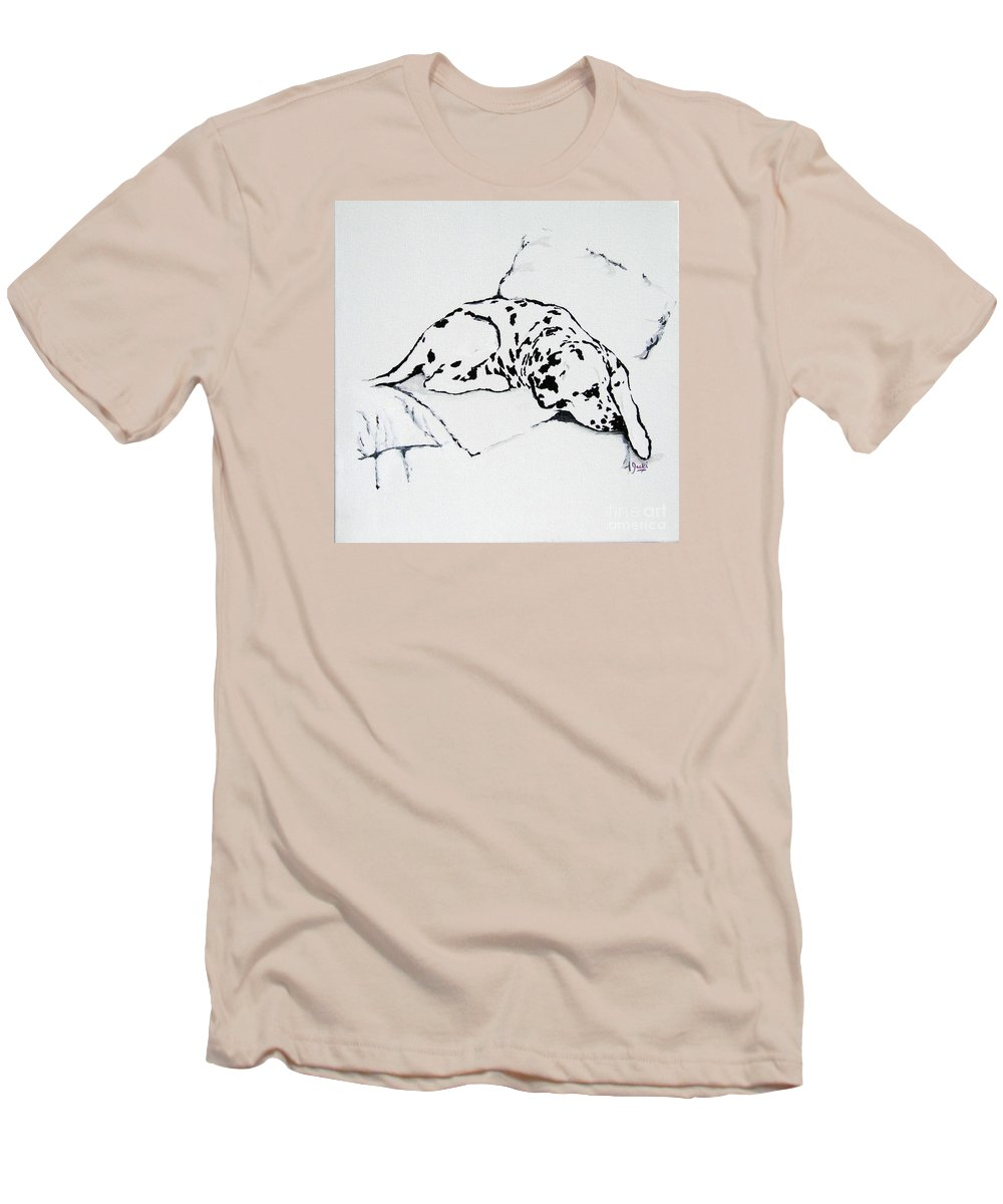 Dogs Men's T-Shirt (Athletic Fit) featuring the painting Lazy Day by Jacki McGovern