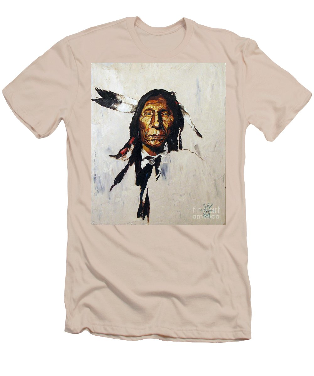 Southwest Art Men's T-Shirt (Athletic Fit) featuring the painting Remember by J W Baker