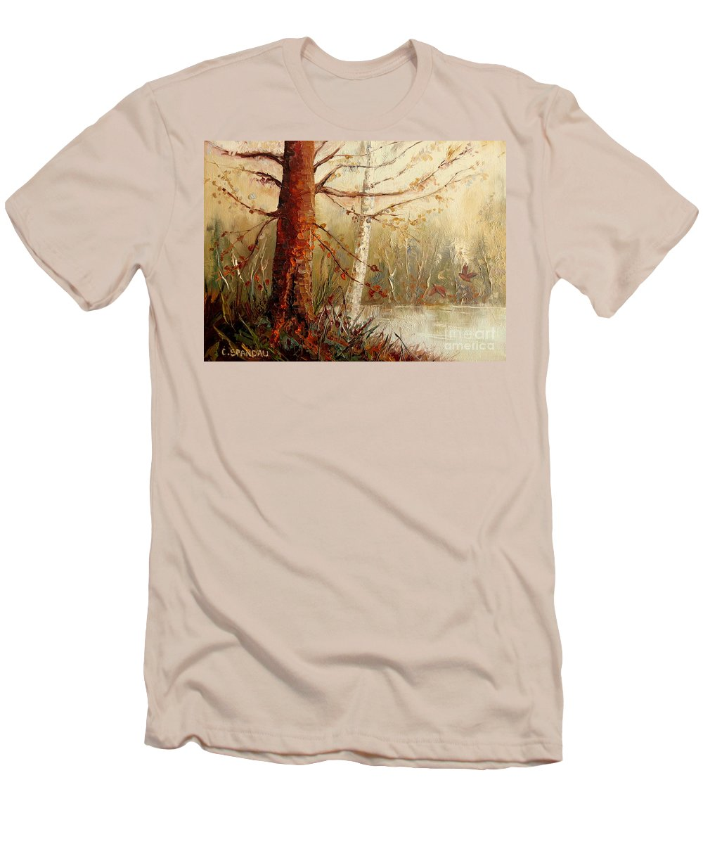 The African Prince Men's T-Shirt (Athletic Fit) featuring the painting The African Prince by Carole Spandau