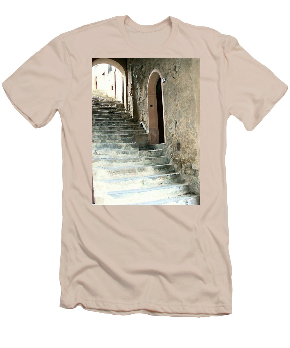 Time-worn Passage Men's T-Shirt (Athletic Fit) featuring the photograph Time-worn Passage by Ellen Henneke
