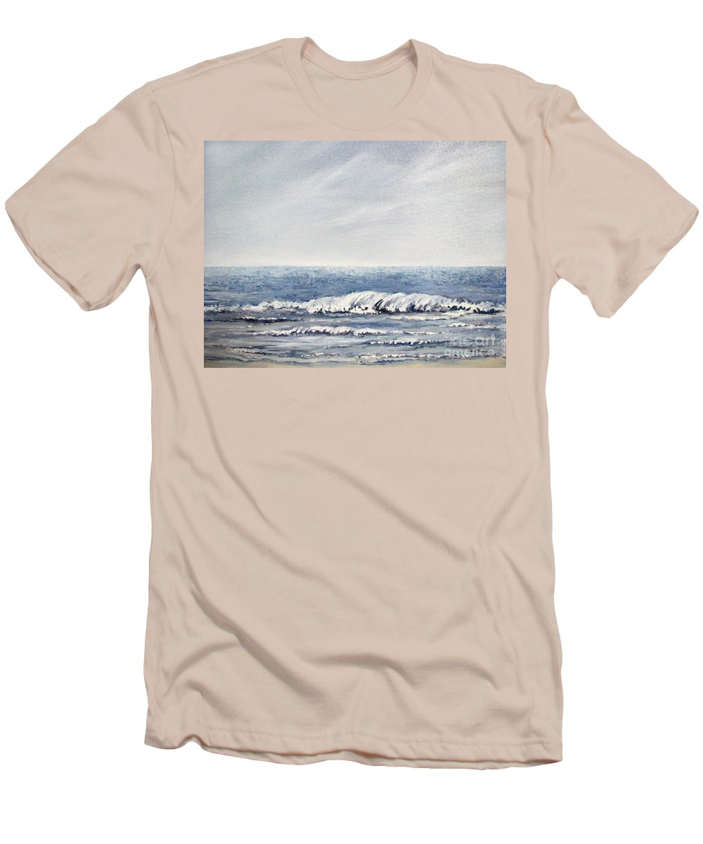 Seascape Men's T-Shirt (Athletic Fit) featuring the painting Where I Want To Be by Todd Blanchard