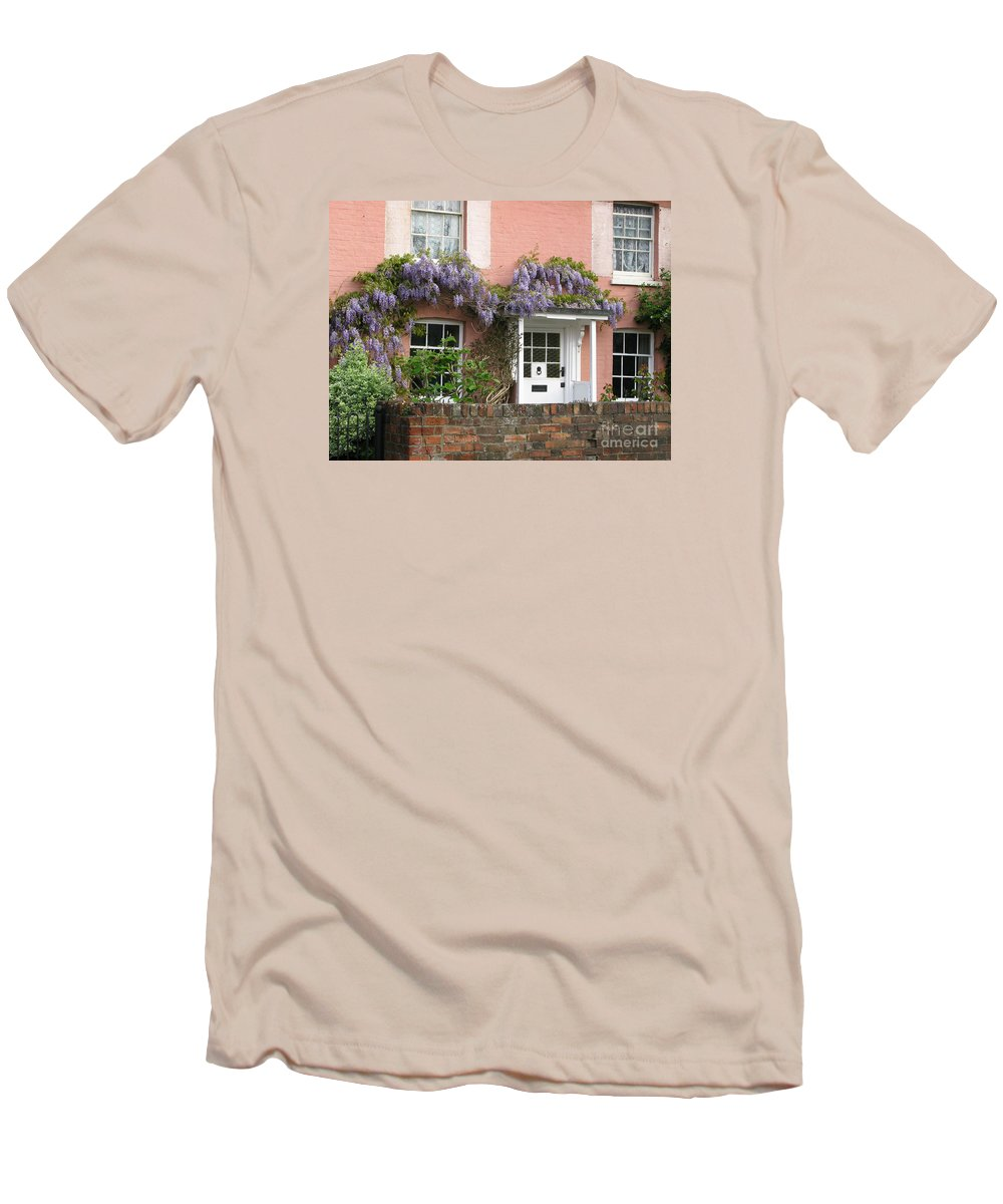 Wisteria Men's T-Shirt (Athletic Fit) featuring the photograph Wisteria House by Ann Horn