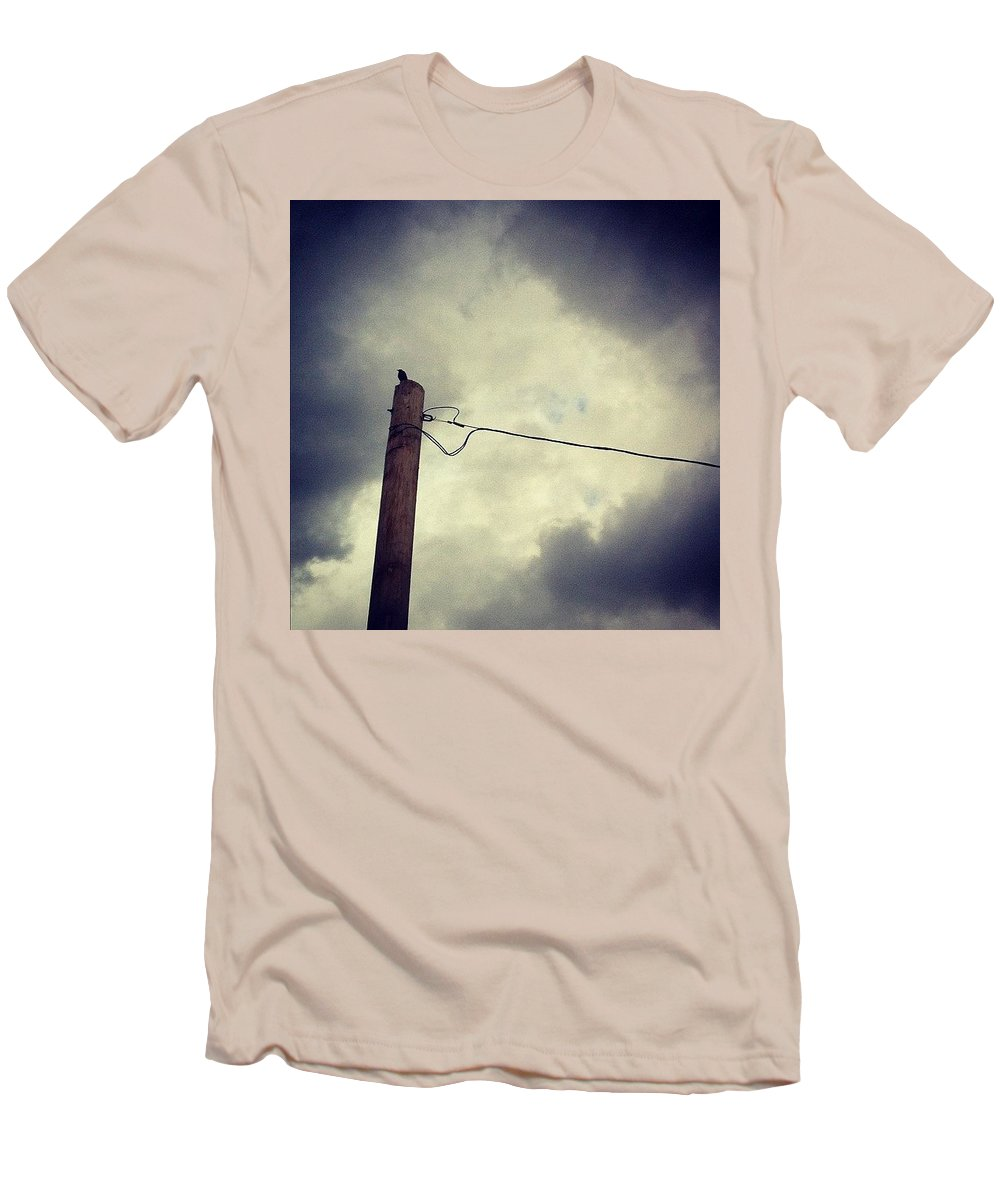 Storm Men's T-Shirt (Slim Fit) featuring the photograph #storm Watcher by Katie Cupcakes