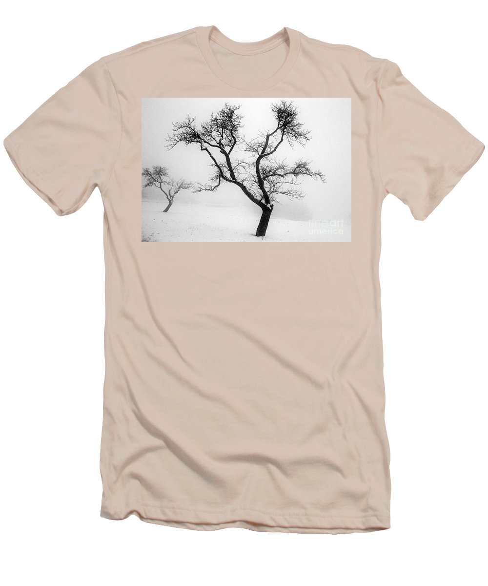 Empty Men's T-Shirt (Athletic Fit) featuring the photograph Tree In The Snow by Ilan Amihai