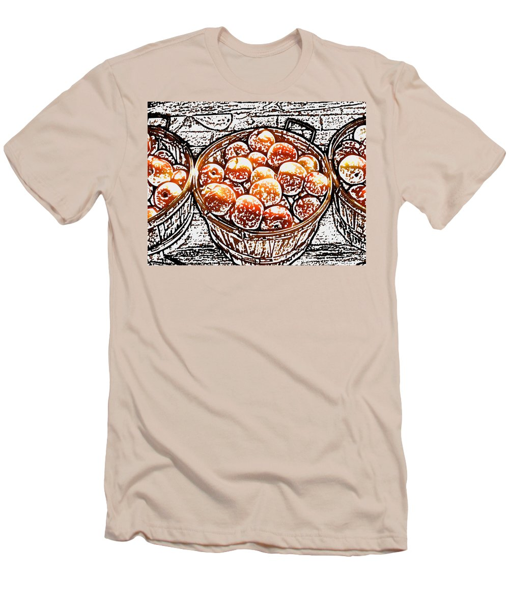 Apples Men's T-Shirt (Athletic Fit) featuring the photograph Michigan Apples by Wayne Potrafka