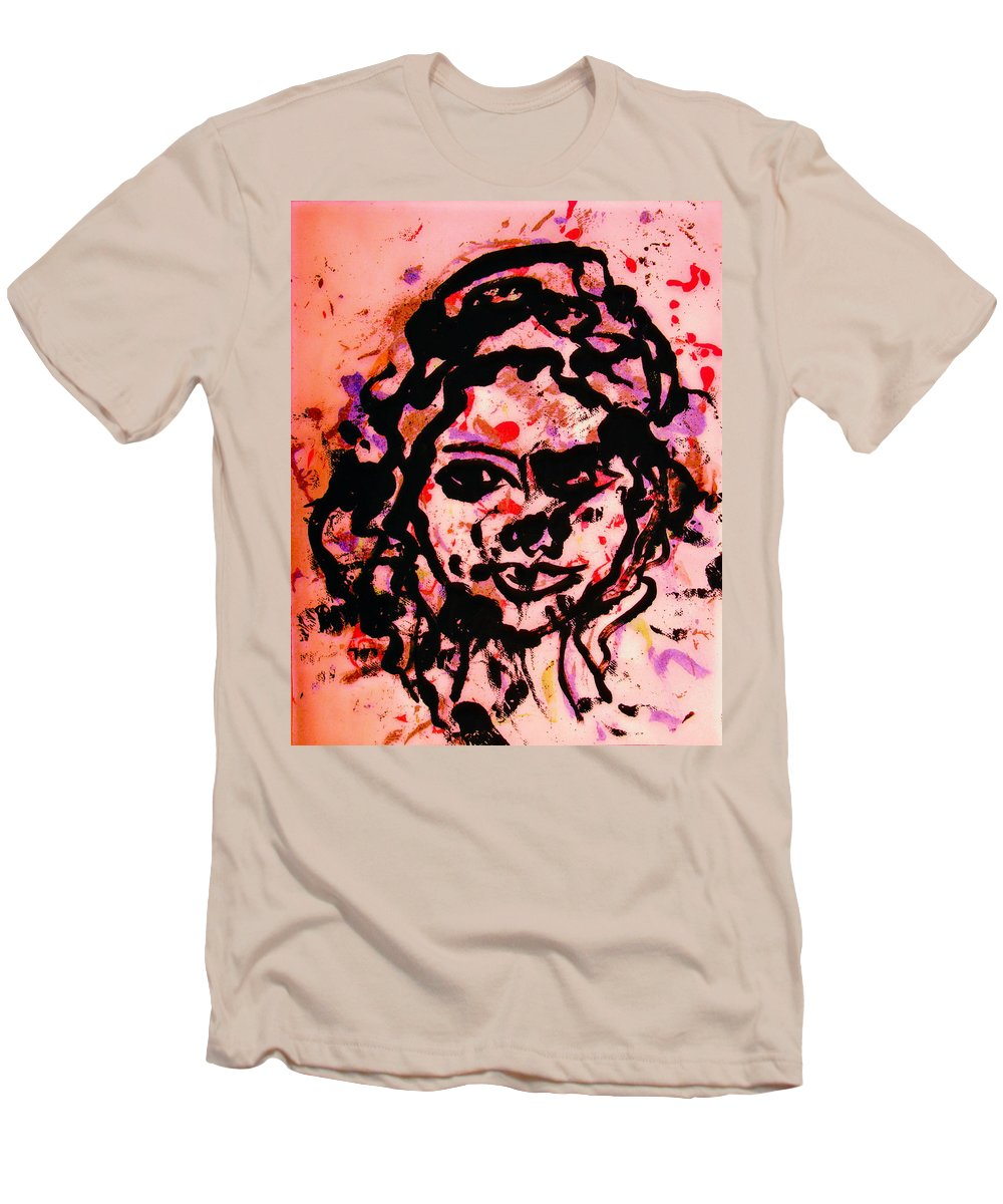 Portrait Men's T-Shirt (Athletic Fit) featuring the painting Self Portrait by Natalie Holland
