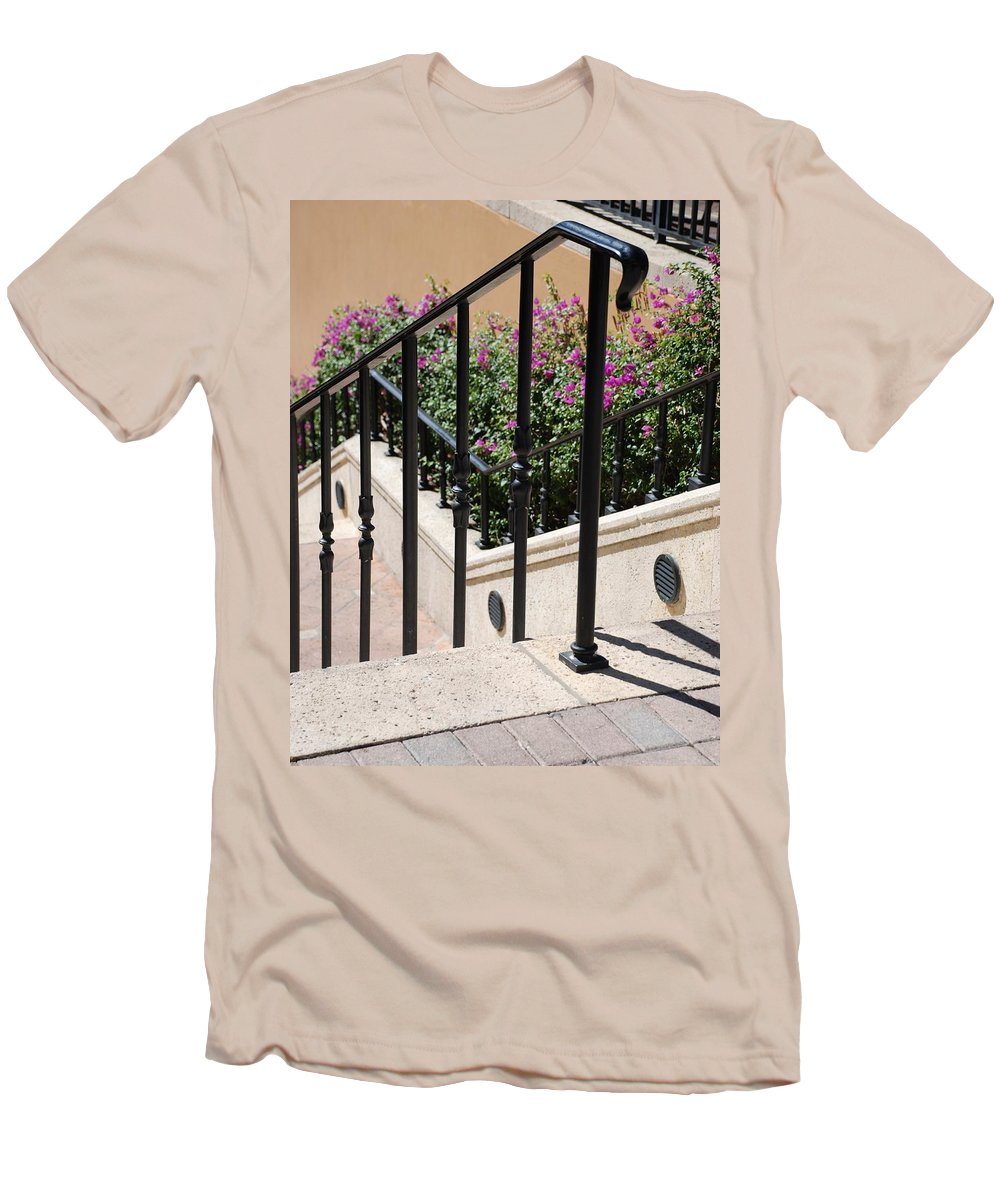 Stairs Men's T-Shirt (Athletic Fit) featuring the photograph Stairs And Rails by Rob Hans