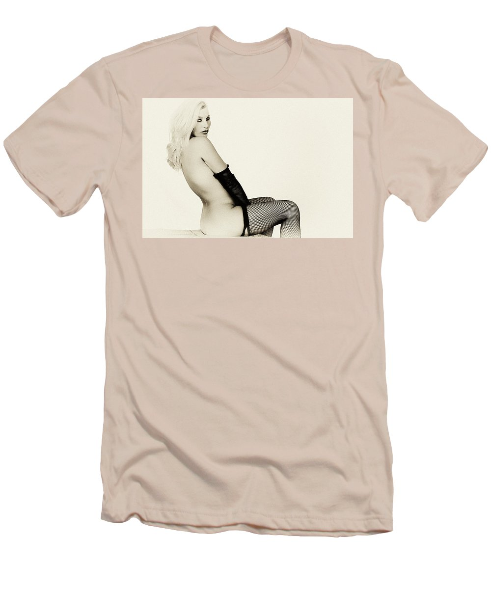Clay Men's T-Shirt (Athletic Fit) featuring the photograph Vintage Pinup Glamour by Clayton Bruster