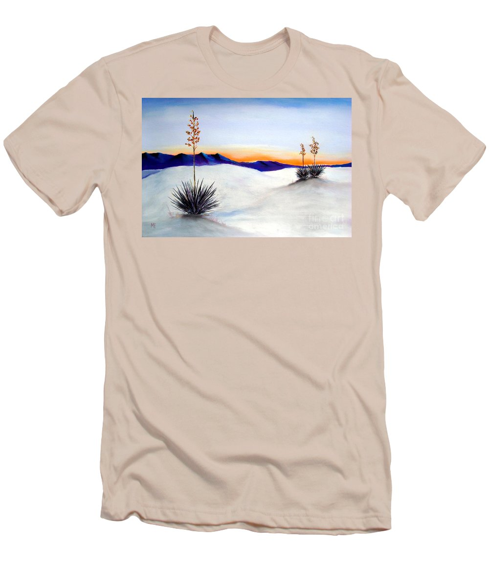 White Sands Men's T-Shirt (Athletic Fit) featuring the painting White Sands by Melinda Etzold