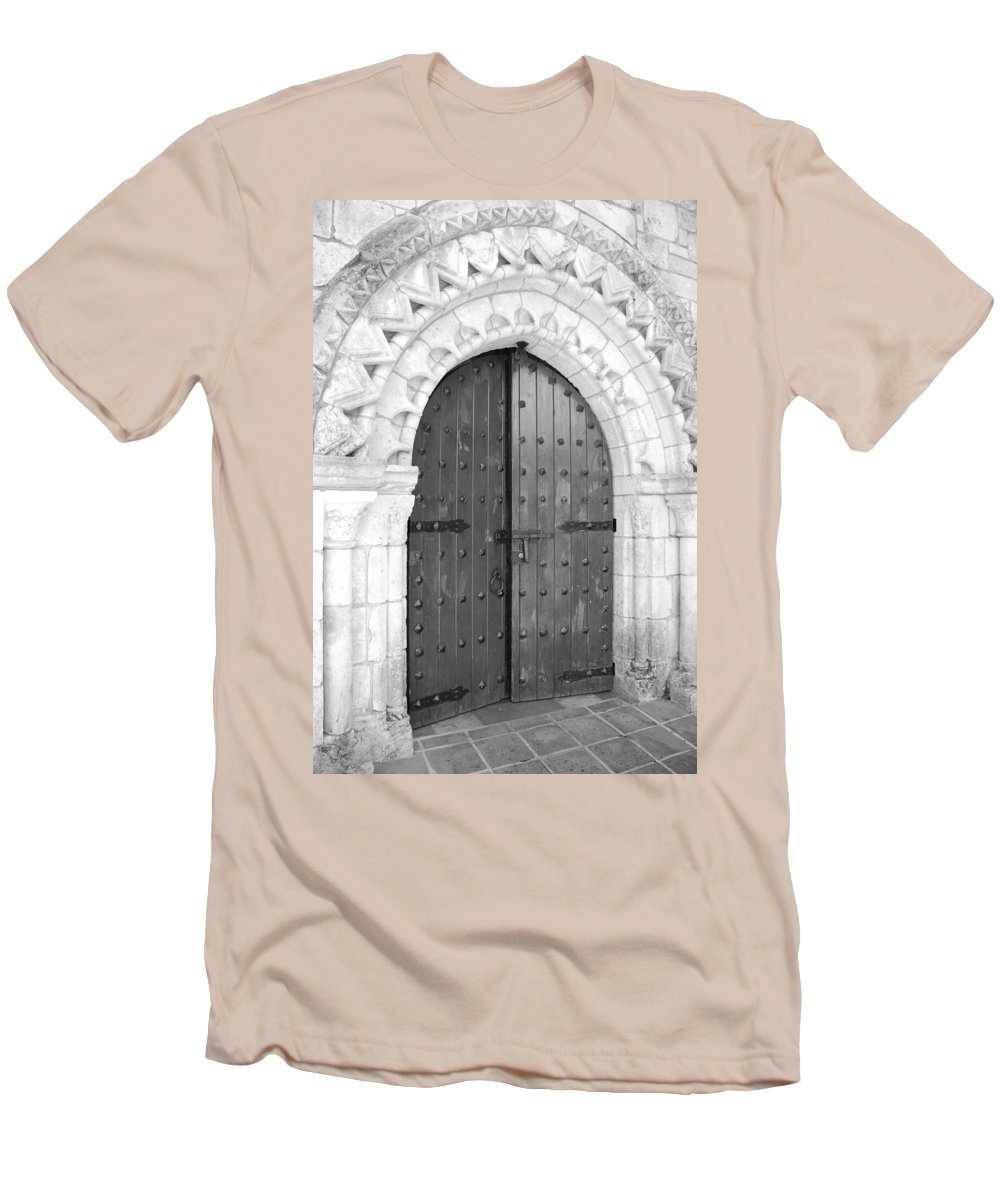 Wooden Doors Men's T-Shirt (Athletic Fit) featuring the photograph Miami Monastery by Rob Hans