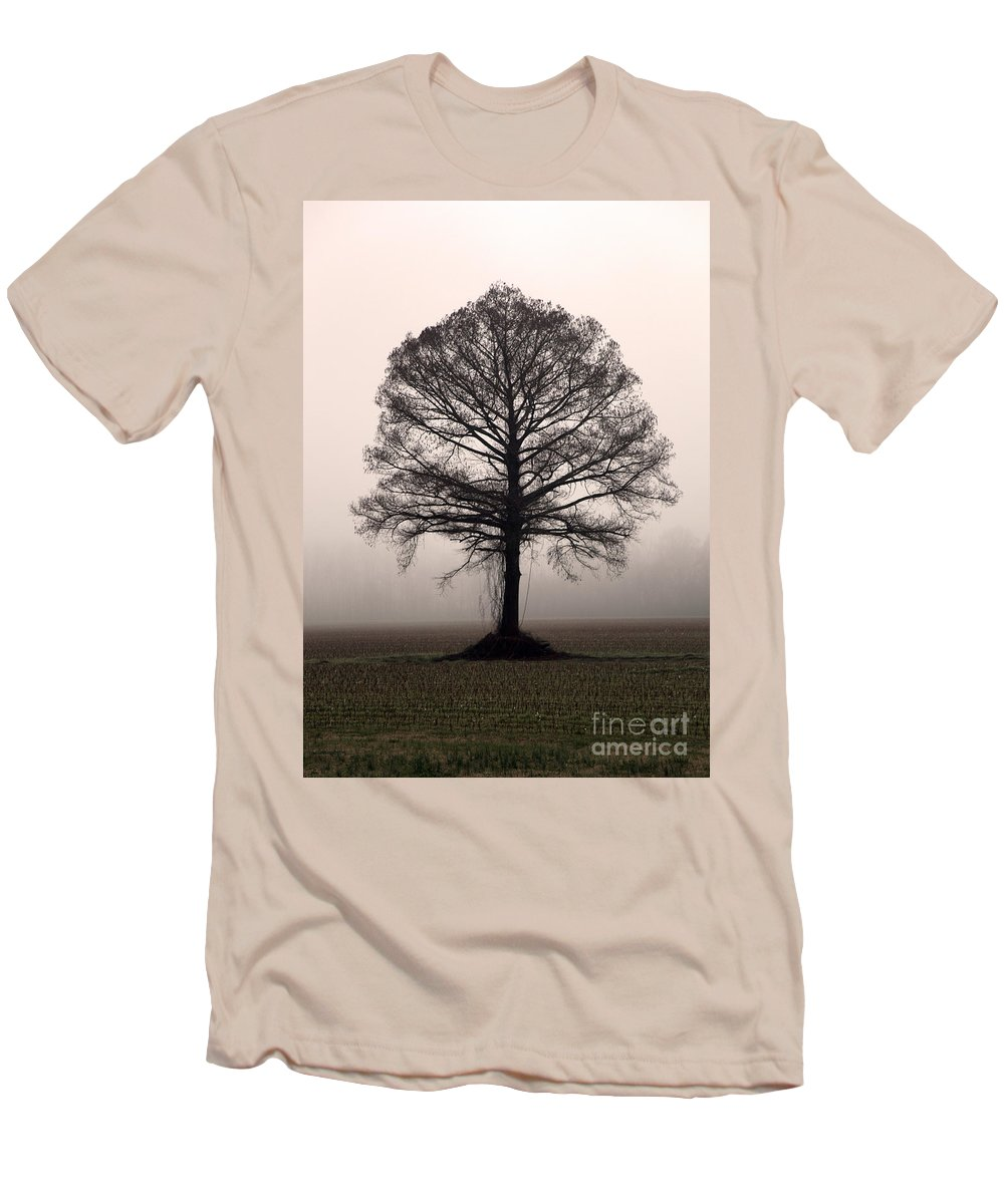 Trees Men's T-Shirt (Athletic Fit) featuring the photograph The Tree by Amanda Barcon