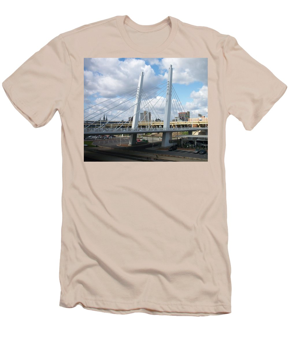 Bridge Men's T-Shirt (Athletic Fit) featuring the photograph 6th Street Bridge by Anita Burgermeister