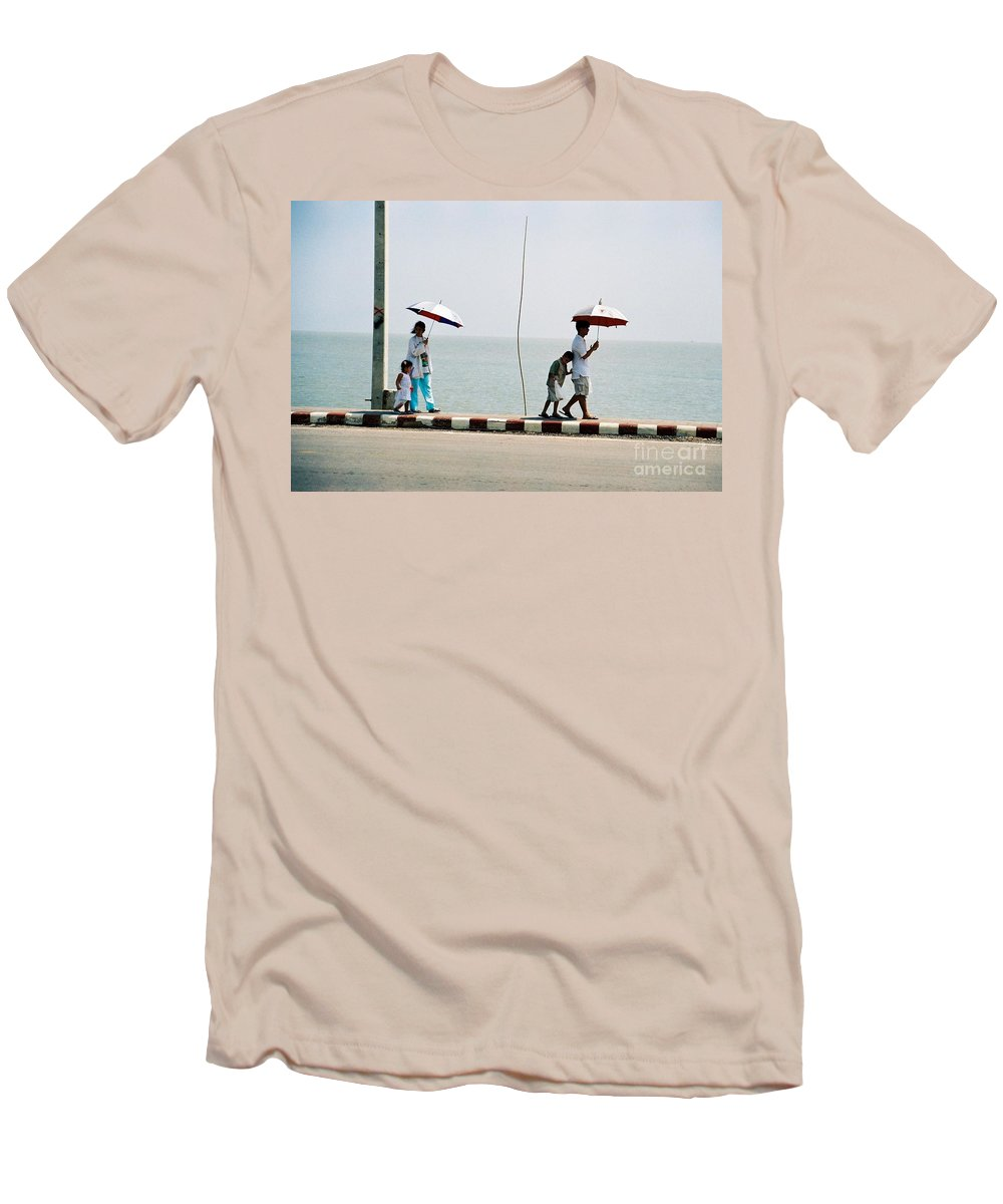 Landscape Men's T-Shirt (Athletic Fit) featuring the photograph A Day By The Sea by Mary Rogers