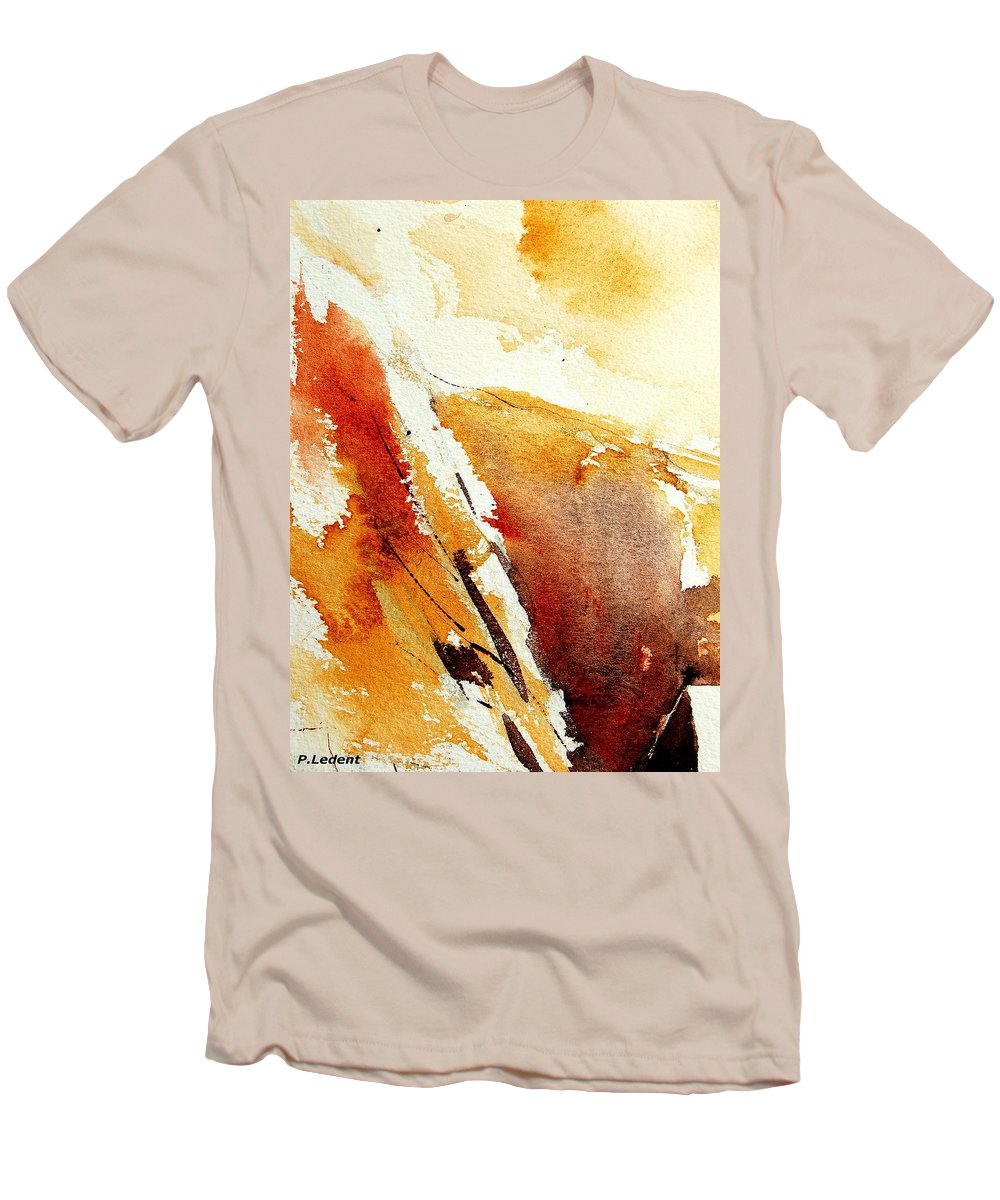Abstract Men's T-Shirt (Athletic Fit) featuring the painting Abstract 5869 by Pol Ledent