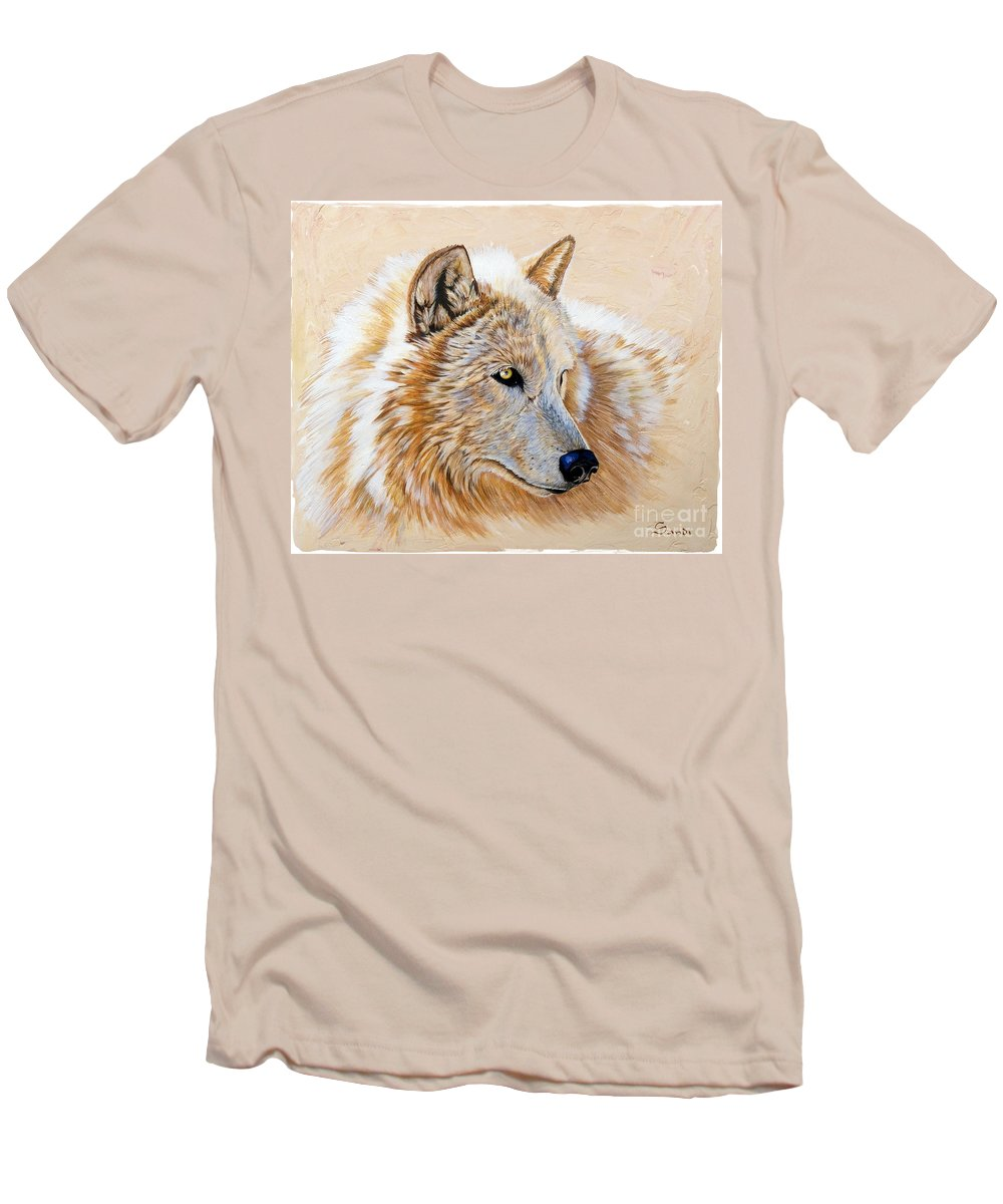 Acrylic Men's T-Shirt (Athletic Fit) featuring the painting Adobe White by Sandi Baker
