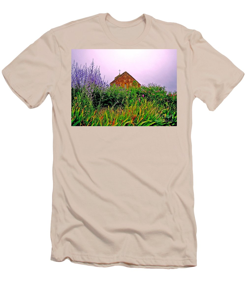 Chapel Men's T-Shirt (Athletic Fit) featuring the photograph Ameugny 3 by Jeff Barrett