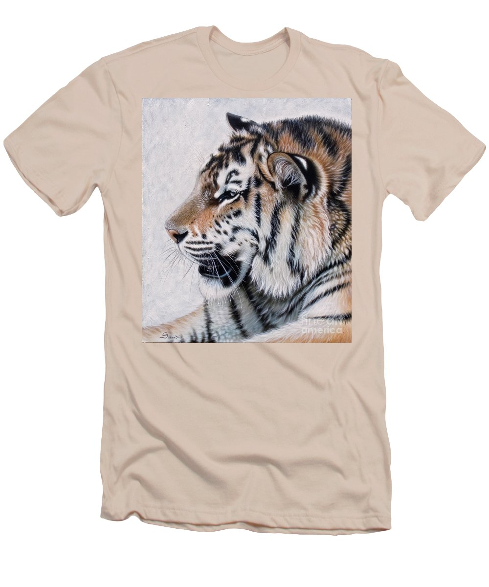 Acrylic Men's T-Shirt (Athletic Fit) featuring the painting Amur by Sandi Baker