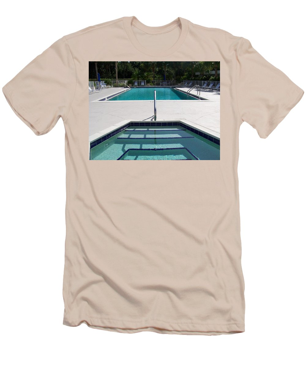 Pool Men's T-Shirt (Athletic Fit) featuring the photograph Aqua by Laurie Paci