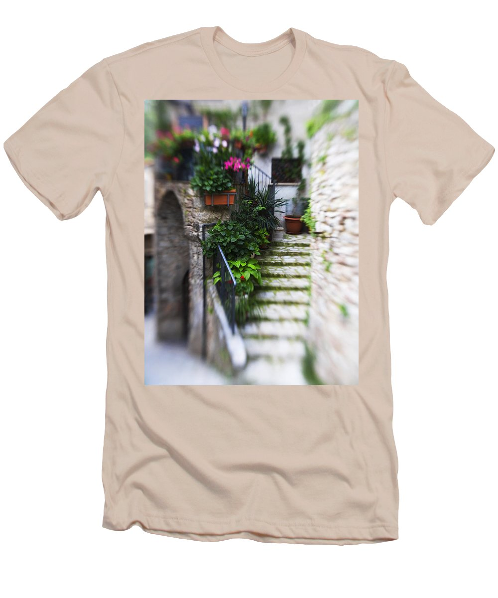 Italy Men's T-Shirt (Athletic Fit) featuring the photograph Archway And Stairs by Marilyn Hunt
