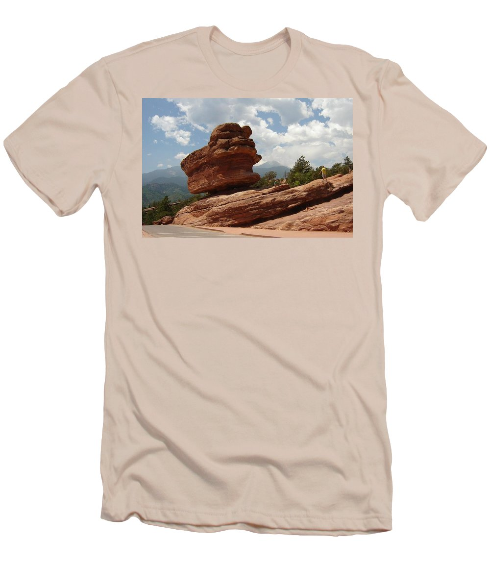 Colorado Men's T-Shirt (Athletic Fit) featuring the photograph Balance Rock by Anita Burgermeister