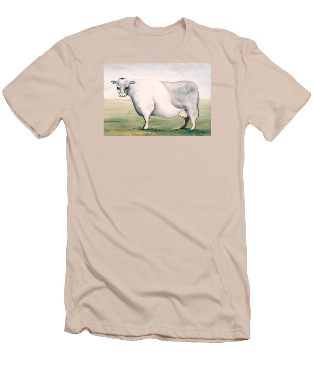 Beef Men's T-Shirt (Athletic Fit) featuring the painting Beef Holocaust I by Mark Cawood