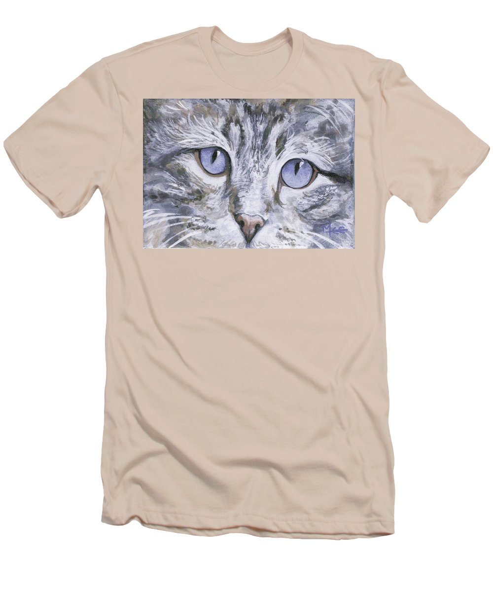 Charity Men's T-Shirt (Athletic Fit) featuring the painting Bisous by Mary-Lee Sanders