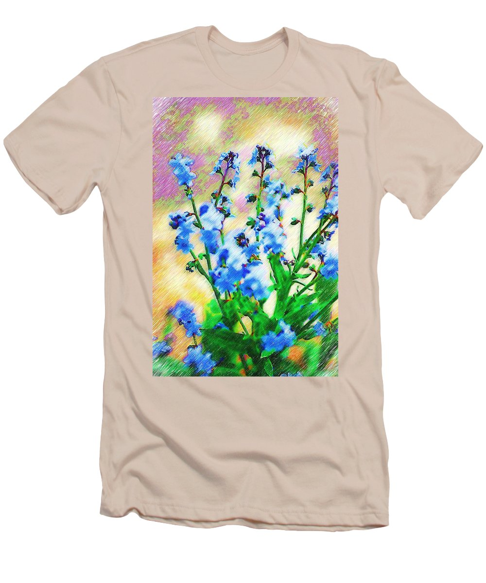Blue Men's T-Shirt (Athletic Fit) featuring the photograph Blue Wildflowers by Donna Bentley