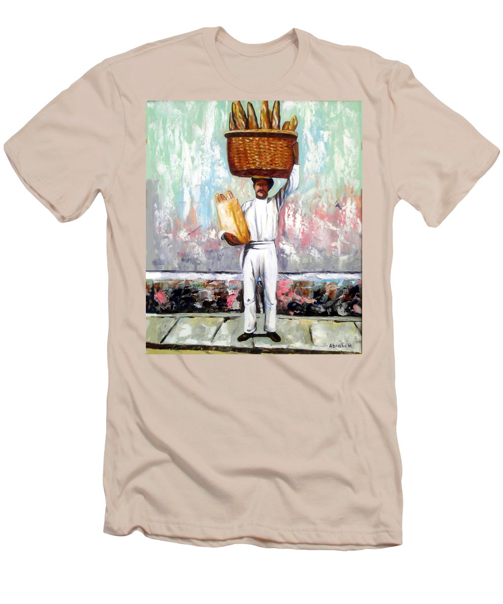 Bread Men's T-Shirt (Athletic Fit) featuring the painting Breadman by Jose Manuel Abraham