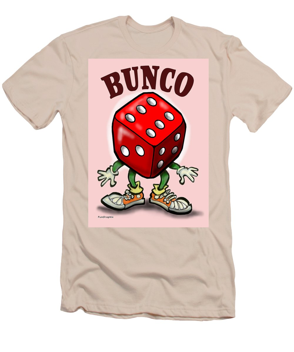 Bunco Men's T-Shirt (Athletic Fit) featuring the greeting card Bunco by Kevin Middleton
