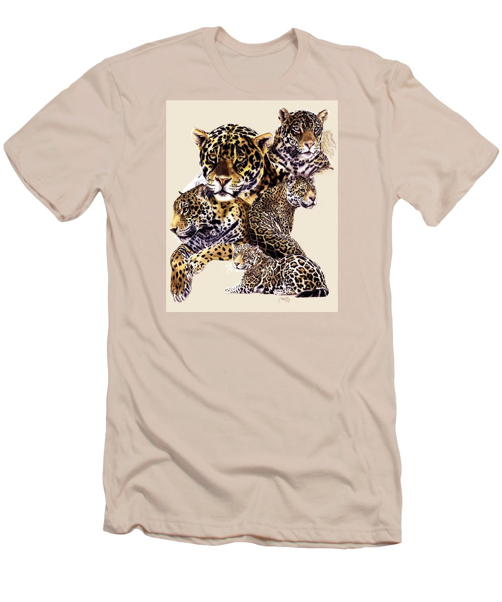 Jaguar Men's T-Shirt (Athletic Fit) featuring the drawing Burn by Barbara Keith