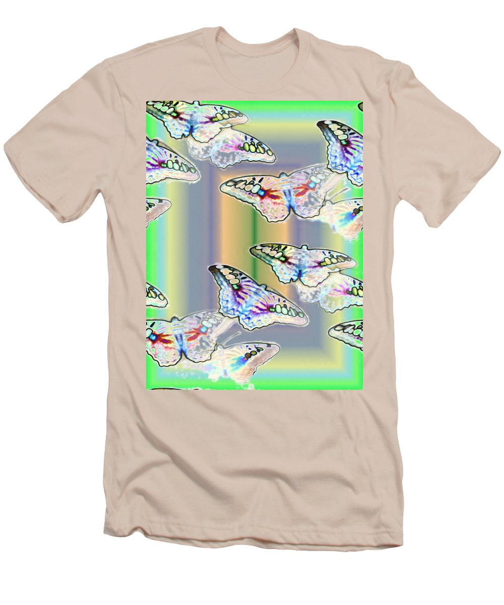 Butterflies Men's T-Shirt (Athletic Fit) featuring the photograph Butterflies In The Vortex by Tim Allen