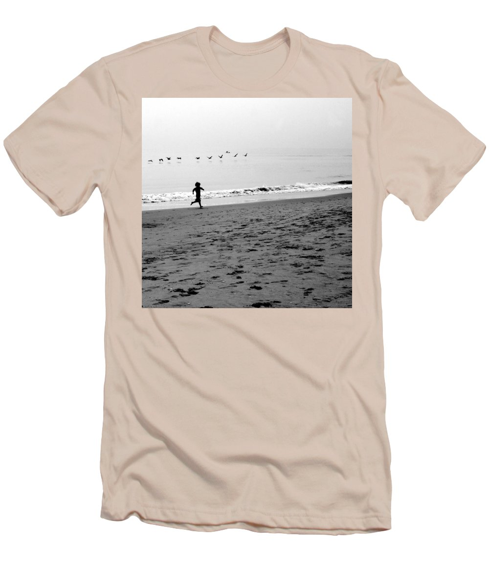 Photograph Men's T-Shirt (Athletic Fit) featuring the photograph Carefree by Jean Macaluso