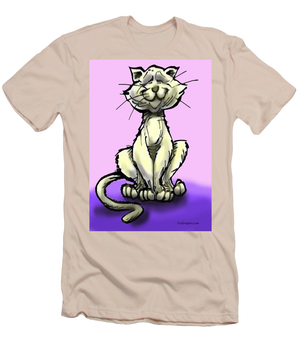 Cat Men's T-Shirt (Athletic Fit) featuring the digital art Cat by Kevin Middleton
