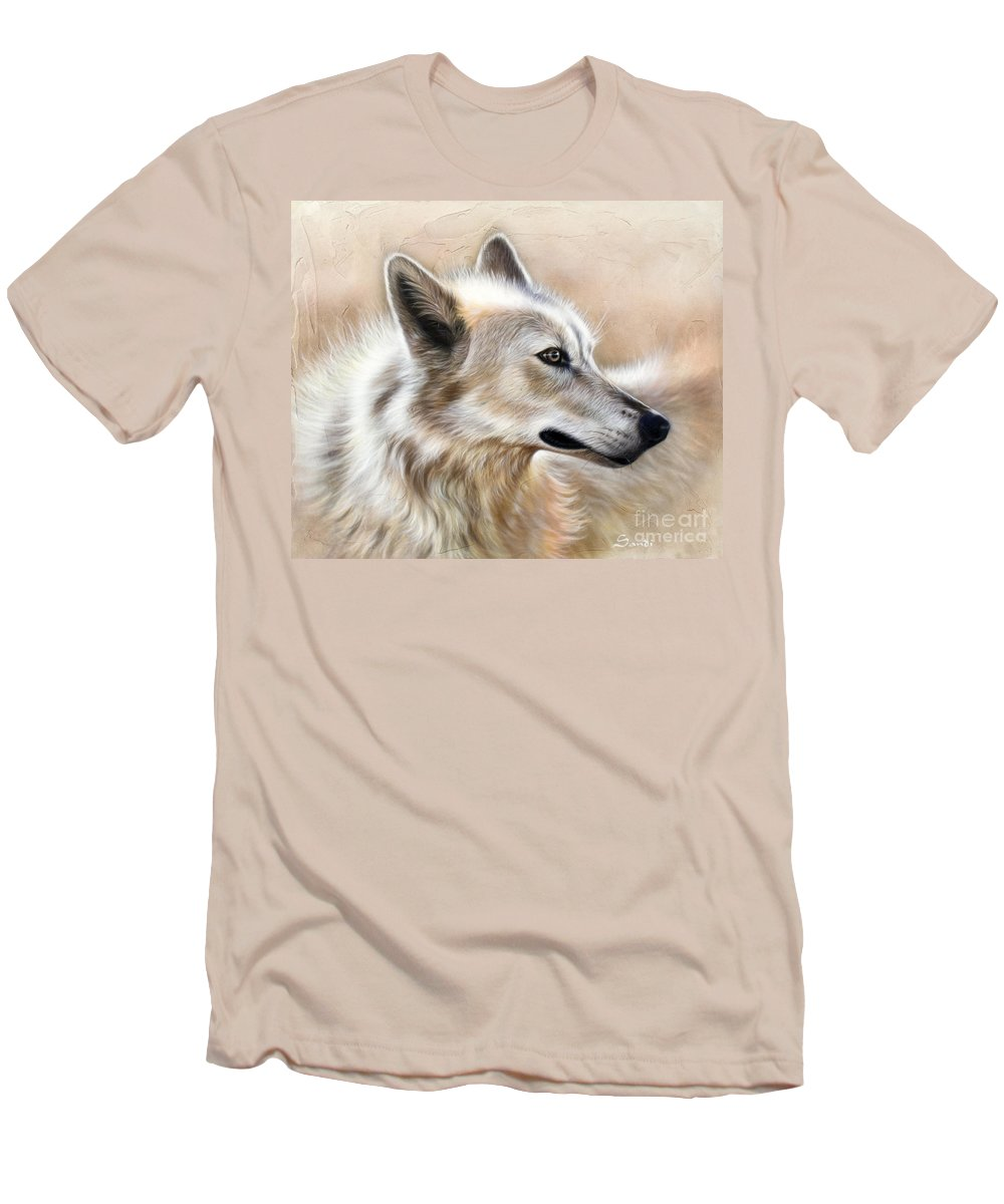 Acrylic Men's T-Shirt (Athletic Fit) featuring the painting Cheyenne by Sandi Baker